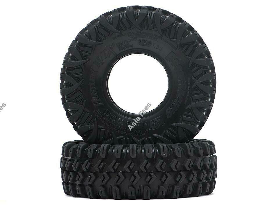 "Boom Racing HUSTLER M/T Xtreme 1.55"" BABY Rock Crawling Tires 3.74x1.3 SNAIL SLIME™ Compound W/ Open Cell Foams (Ultra Soft) BRTR15502-US"