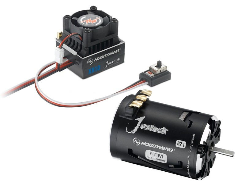 HobbywingXR10 Justock ESC, w/ Justock 3650 SD G2.1 Sensored Brushless Motor (17.5 Turn) - Combo