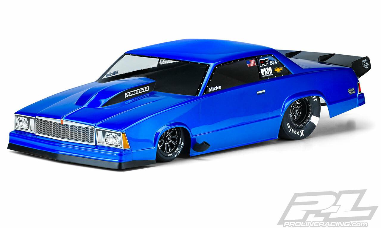 Proline 1978 Chevrolet Malibu Clear Body, for Slash 2wd Drag Car & AE DR10 3549-00