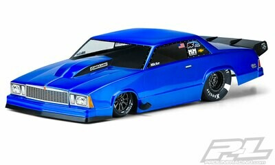 Proline 1978 Chevrolet Malibu Clear Body, for Slash 2wd Drag Car & AE DR10 3549-00