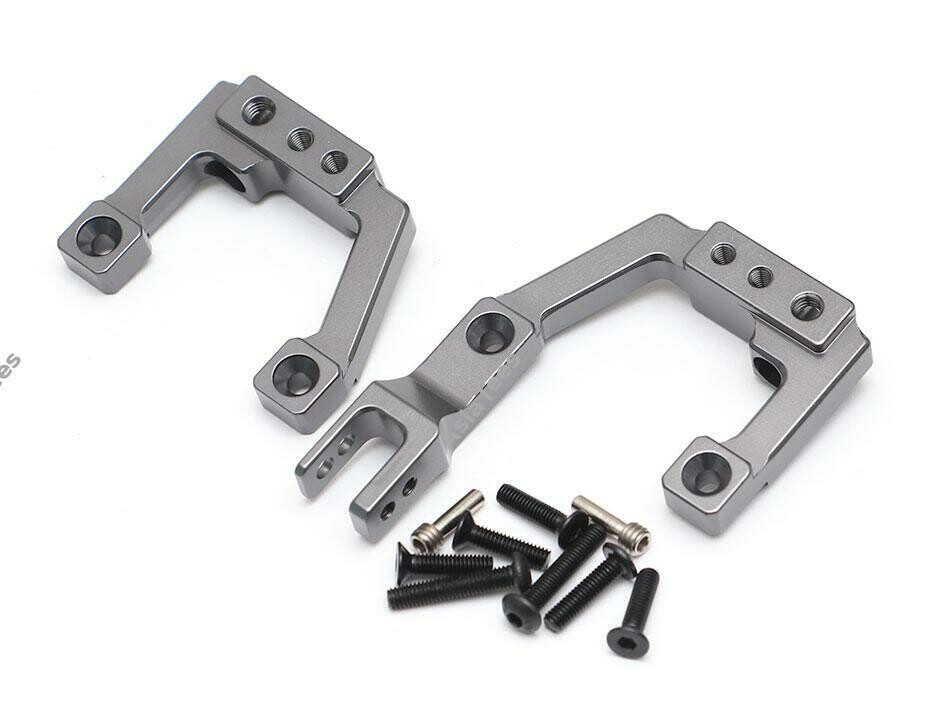 Team Raffee Co. Aluminum Front Shock Mounts (2) Gun Metal for Element RC Enduro TRC/1059009FGM