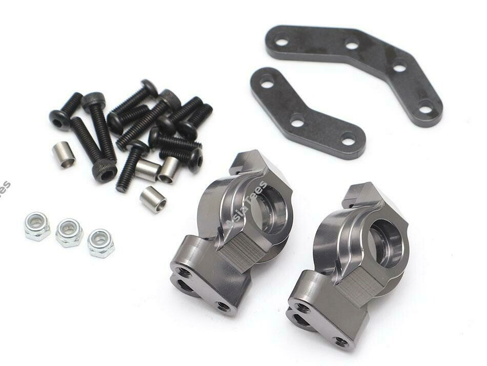 Team Raffee Co. Aluminum Front Knuckle (2) Gun Metal for Element RC Enduro TRC/1059001GM