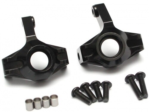 Team Raffee Co. Aluminum Front Kunckle (2) Black for Axial SCX10 II TRC/302287BK
