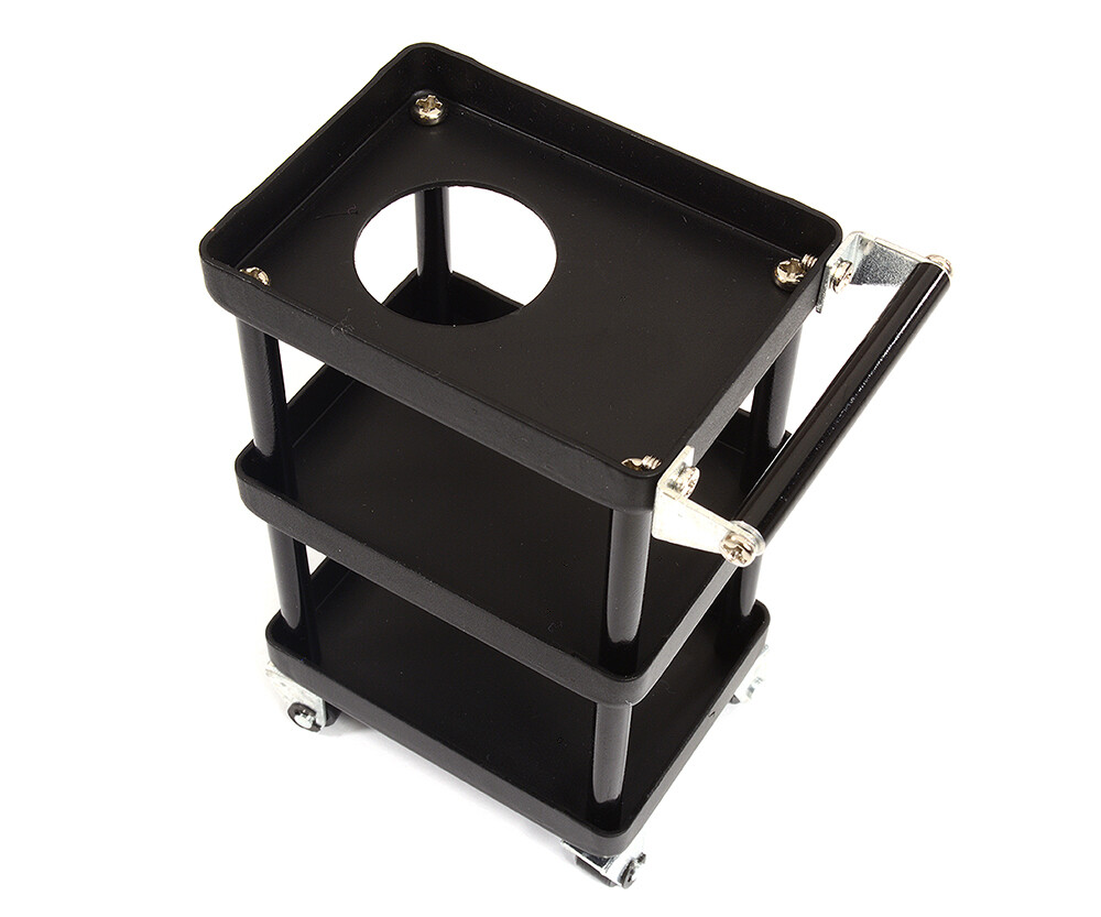 Integy Realistic Scale Model 3-Tier Rolling Metal Storage Organizer Cart for RC C29521BLACK