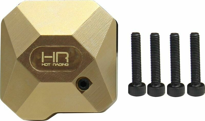 Hot Racing Heavy 48g Brass Differential Cover, for SCX II HRASCXT12CH