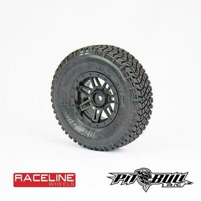 Pitbull PBX A/T Hardcore 1.9 Scale Tires with Foam Inserts, Alien Compound PBTPB9010NK
