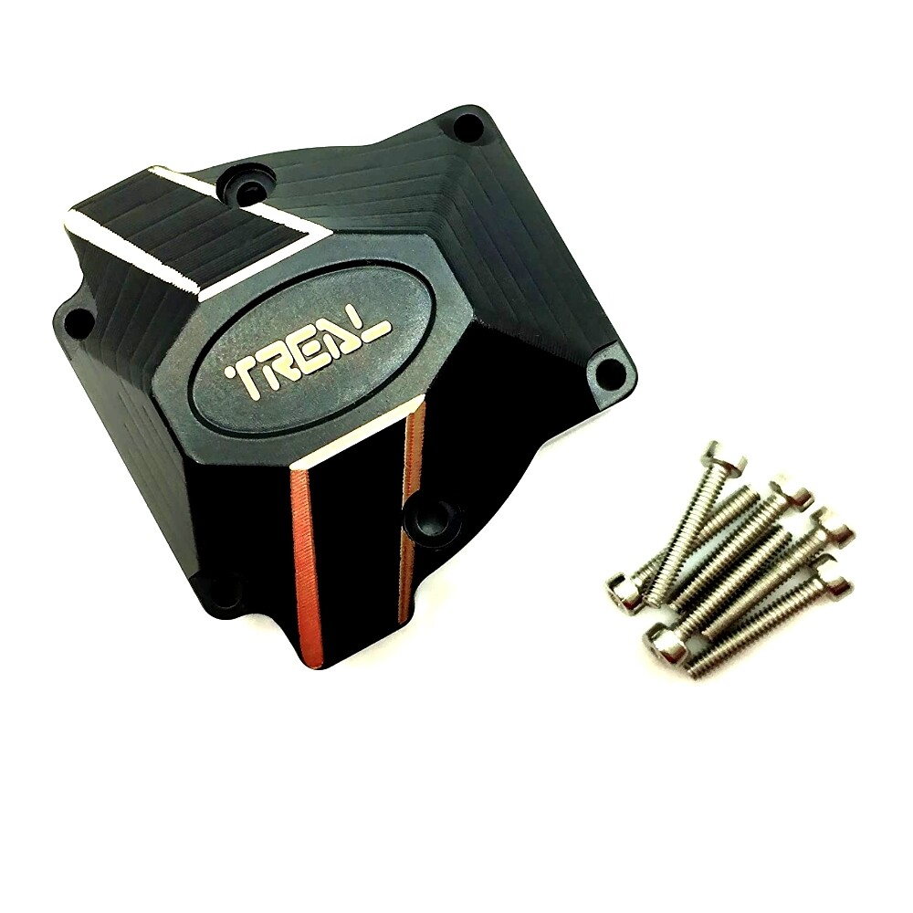 Treal Brass Heavy Weight Differential Cover 75g for Redcat Gen8-Black T8034-2021B