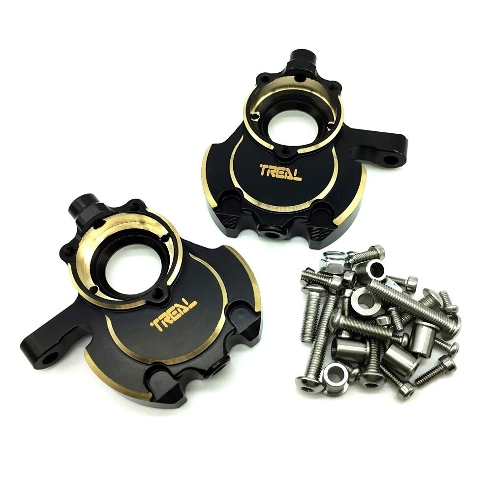 Treal Brass Inner Front Portal Housing Knuckles for Redcat Gen8-Black T8034-2041B