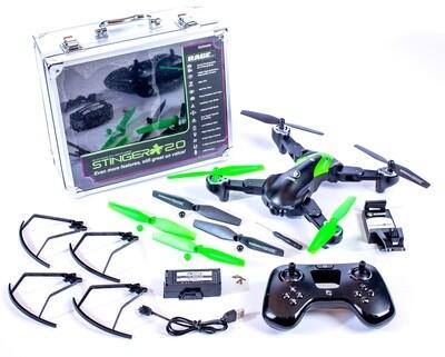 Rage R/C Stinger 2.0 RTF WiFi FPV Drone w/1080p HD Camera RGR4400