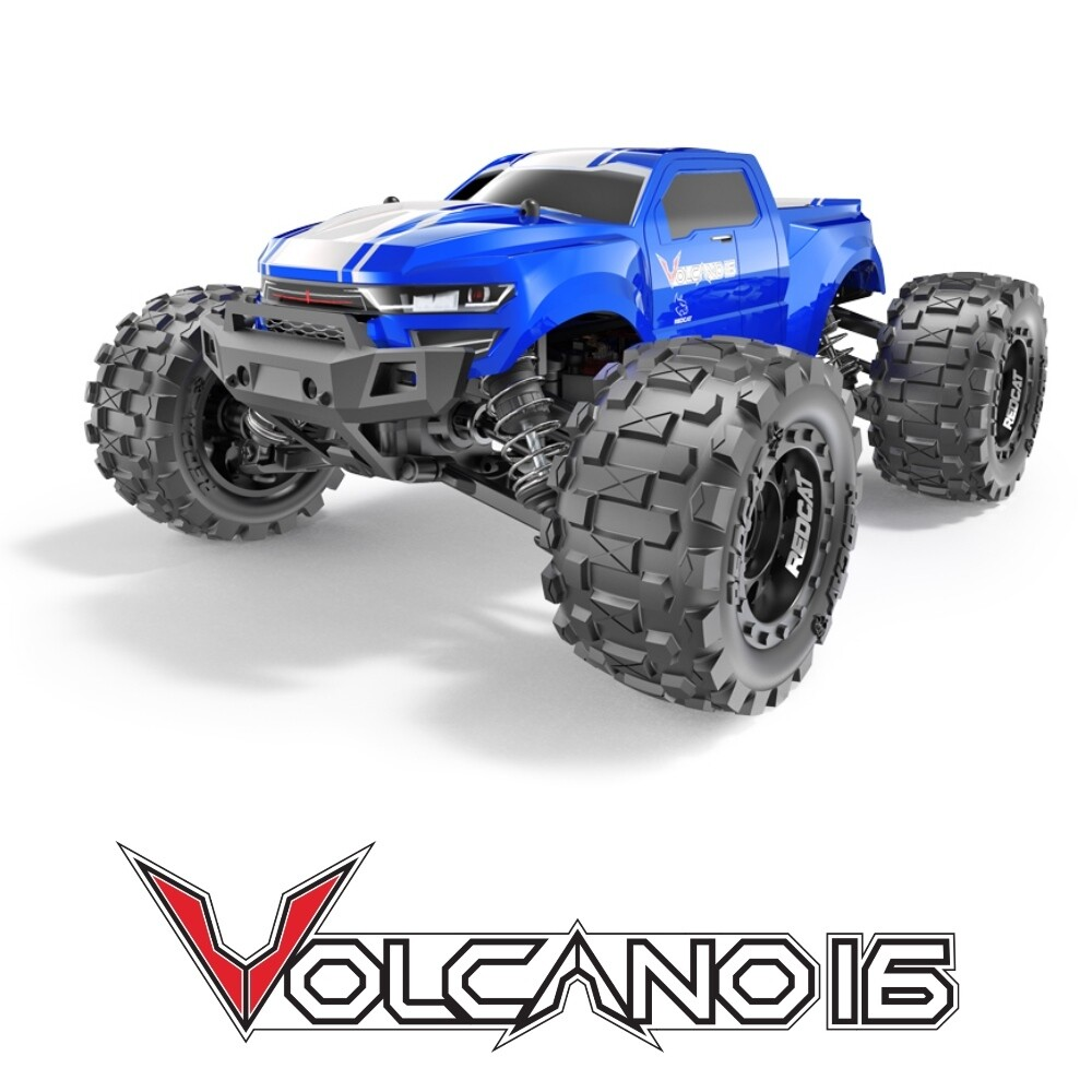 Redcat Volcano-16 1/16 Scale Brushed Electric Monster Truck (Blue) RER13649