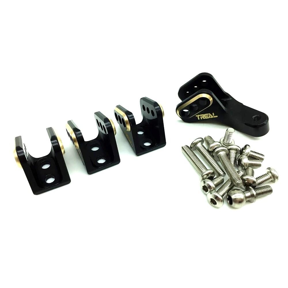 Treal Brass Axle Lower Link Mounts Set for Redcat Gen 8 (Black) T8034-2091B