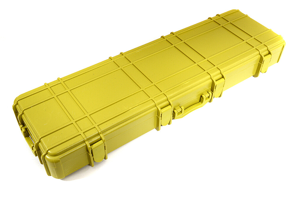 Integy Realistic Model Scale Plastic Luggage Storage Case 225x70x26mm C29436YELLOW