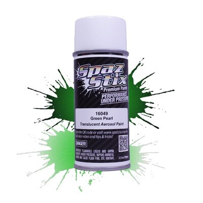 Spaz Stix Green Pearl Aerosol Paint, 3.5oz Can SZX16049