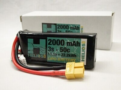 Helios 3S 2000 mAh 50c Lipo (XT60)