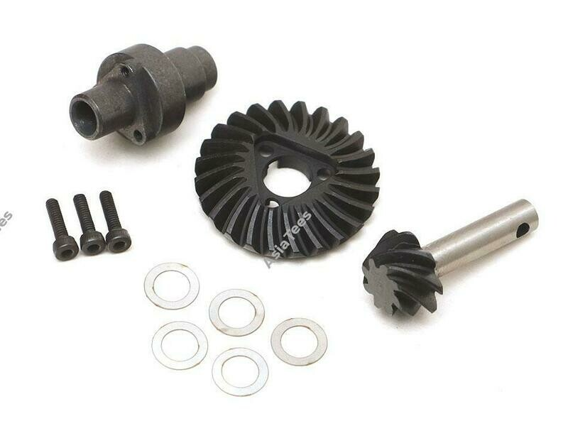 Boom Racing Heavy Duty Keyed Bevel Helical Overdrive Gear 24/8T + Differential Locker Set for BRX70/BRX90/AR44/AR45 Axles BR955040
