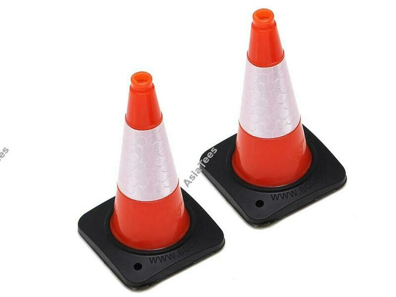 Boom Racing 1/10 Rubber Traffic Cone with Reflective Decal (2) Orange BRSCAC301/2OR