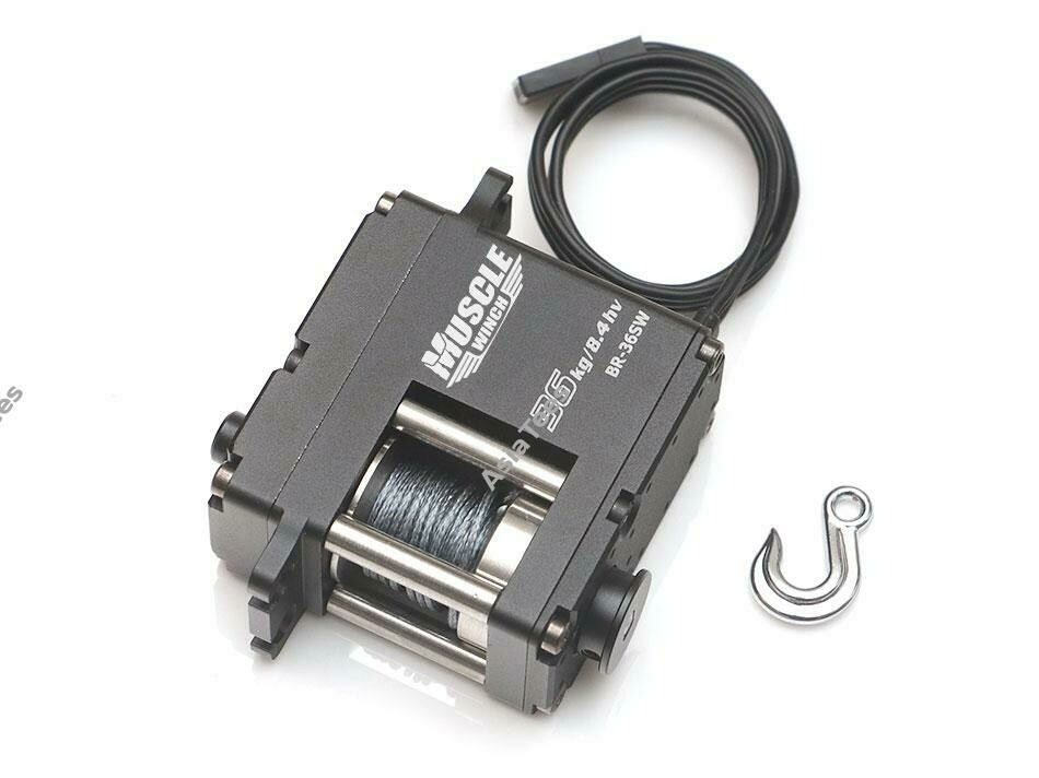 Boom Racing Muscle Winch™ High Torque 36KG Waterproof Servo Winch w/ Free Spool Unit