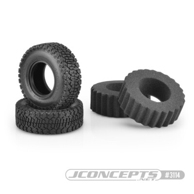 "JConcepts Bounty Hunters, Green Compound, 1.9"" (3.93"" O.D.) Scale Country Tires JCO311402"
