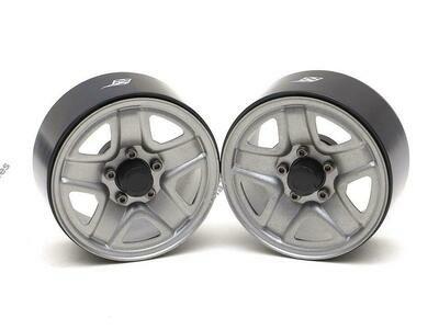 "Boom Racing 1.9"" S200 Steelie Reversible Beadlock Wheels w/ XT504 Hub (2) Gun Metal BRW780933GM"