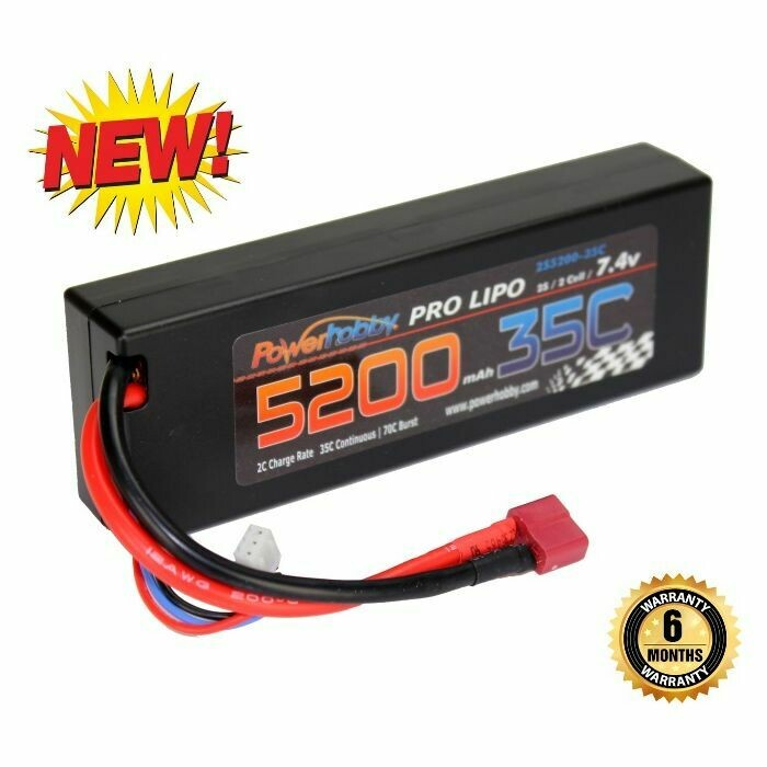 Powerhobby 2s 7.4v 5200mah 35c Lipo Battery (Deans)