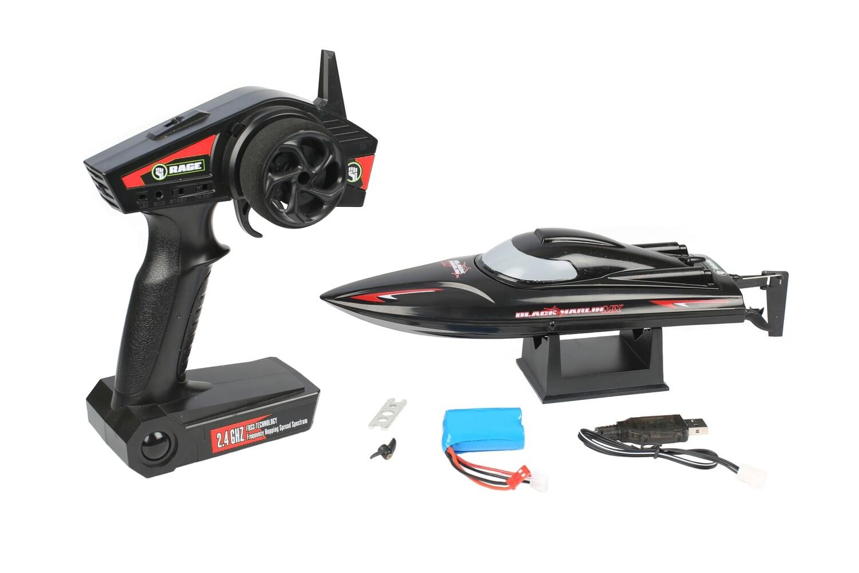 Rage R/C Black Marlin MX RTR Boat