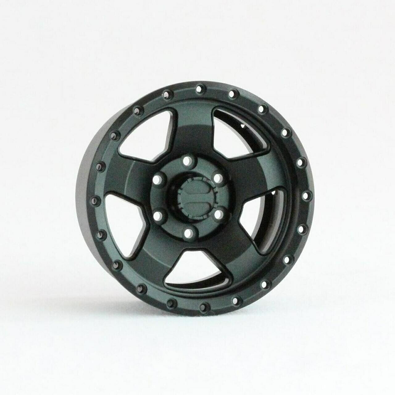 "Pitbull 1.9"" Raceline Combat Aluminum Wheels, Black, (4) PBTPBW19CMBB"