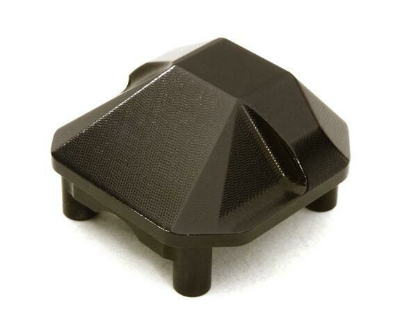 Integy CNC Machined Alloy Differential Cover for Axial SCX10 II OBM-1304BLACK