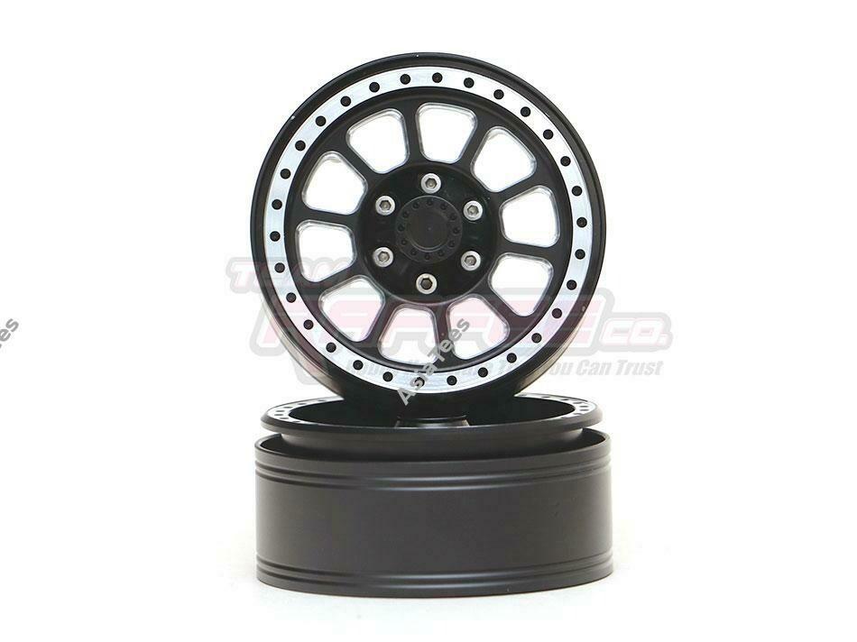"Team Raffee Co. 1.9"" Aluminum Beadlock Wheels 10 Spoke (2) Black TRC/302753BK"