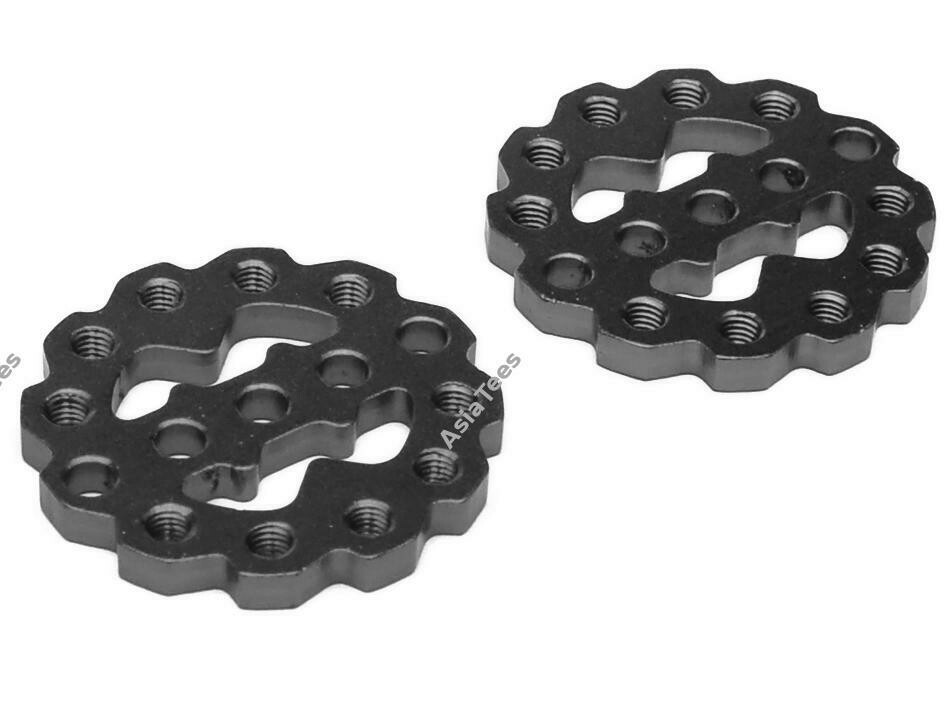 Boom Racing Rugged Gear Aluminum Universal Shock Ring Hoop 2Pcs Black BRQ90305BK