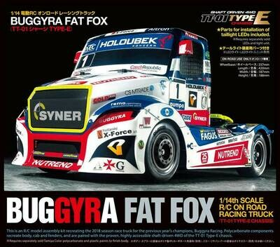 Tamiya Buggyra Fat Fox On Road Racing Truck Kit, TT-01 Type E Chassis TAM58661