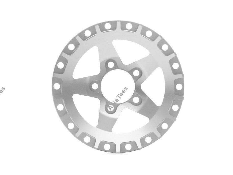 Boom Racing ProBuild™ Alum SS5 Faceplate (1) Flat Silver BRPBF008SS5FS
