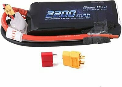 Gens ace 50C 2S1P 7.4 v 2200mah Lipo Battery Pack with XT60 Plug GEA22002S50X6