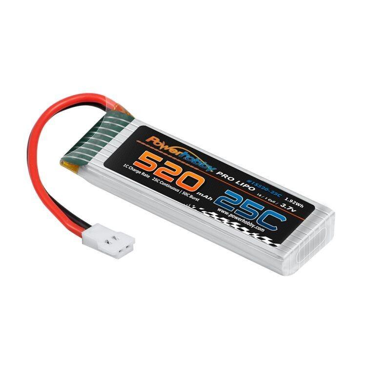 Powerhobby 1S 3.7V 520MAh 25C Lipo Battery Associated Enduro24 Crawler PHB1S52025CENDURO24