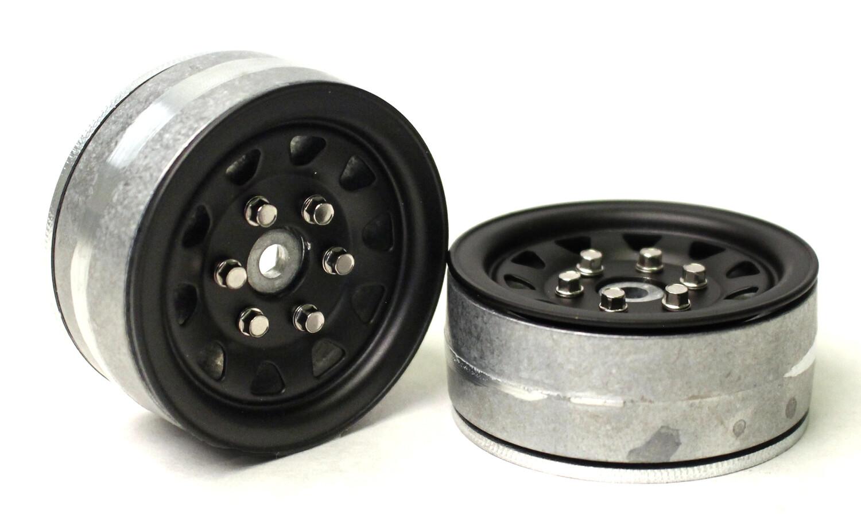 "Gmade 1.9"" SR04 Beadlock Wheels (Matte Black) GMA70494"