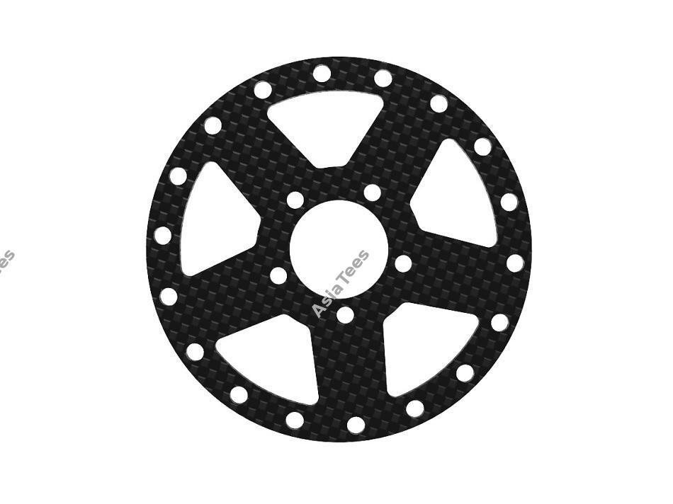 Boom Racing ProBuild™ CF5 Carbon Fiber Faceplate (1) Black BRPBF003CFBK