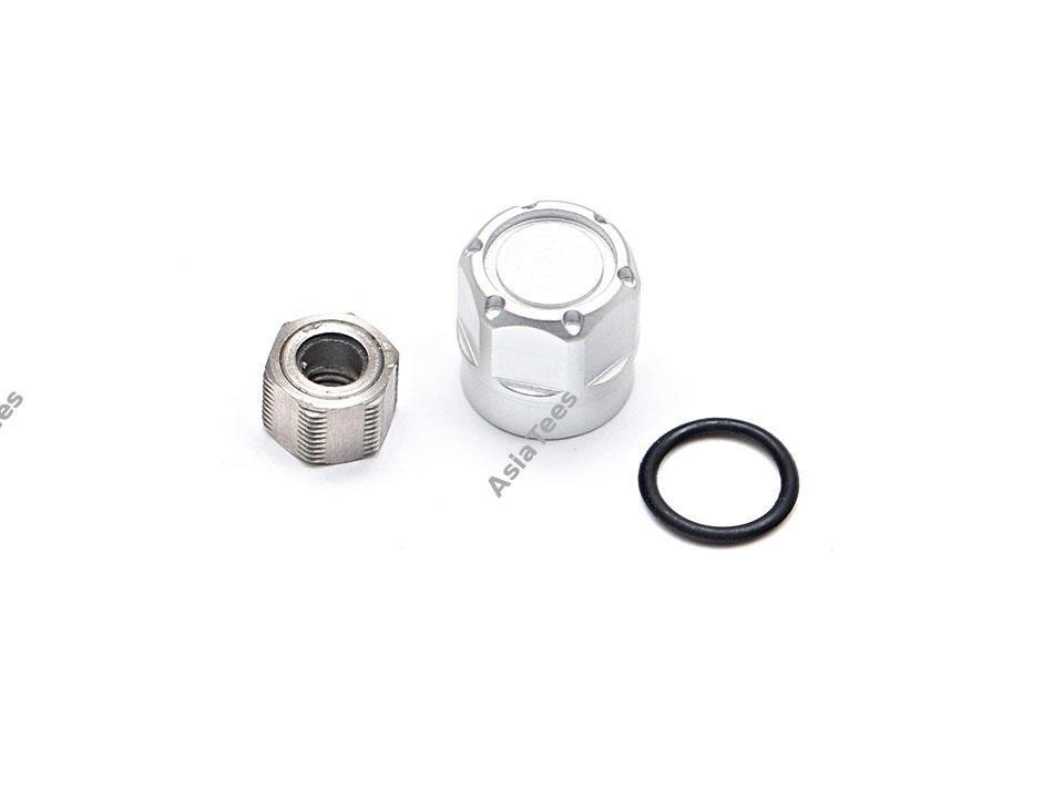 Boom Racing Alum Wheel Center Cap - S100 (1) Silver (XT6 Hub Series)  BRPB-S100S