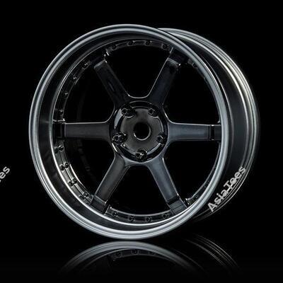 MST 106 Offset Changeable Wheel Set (4) Silver Black MST/102093SBK