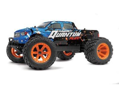 Maverick Quantum MT Flux 80A Brushless 1/10 4WD Monster Truck, Ready To Run - Blue MVK150202
