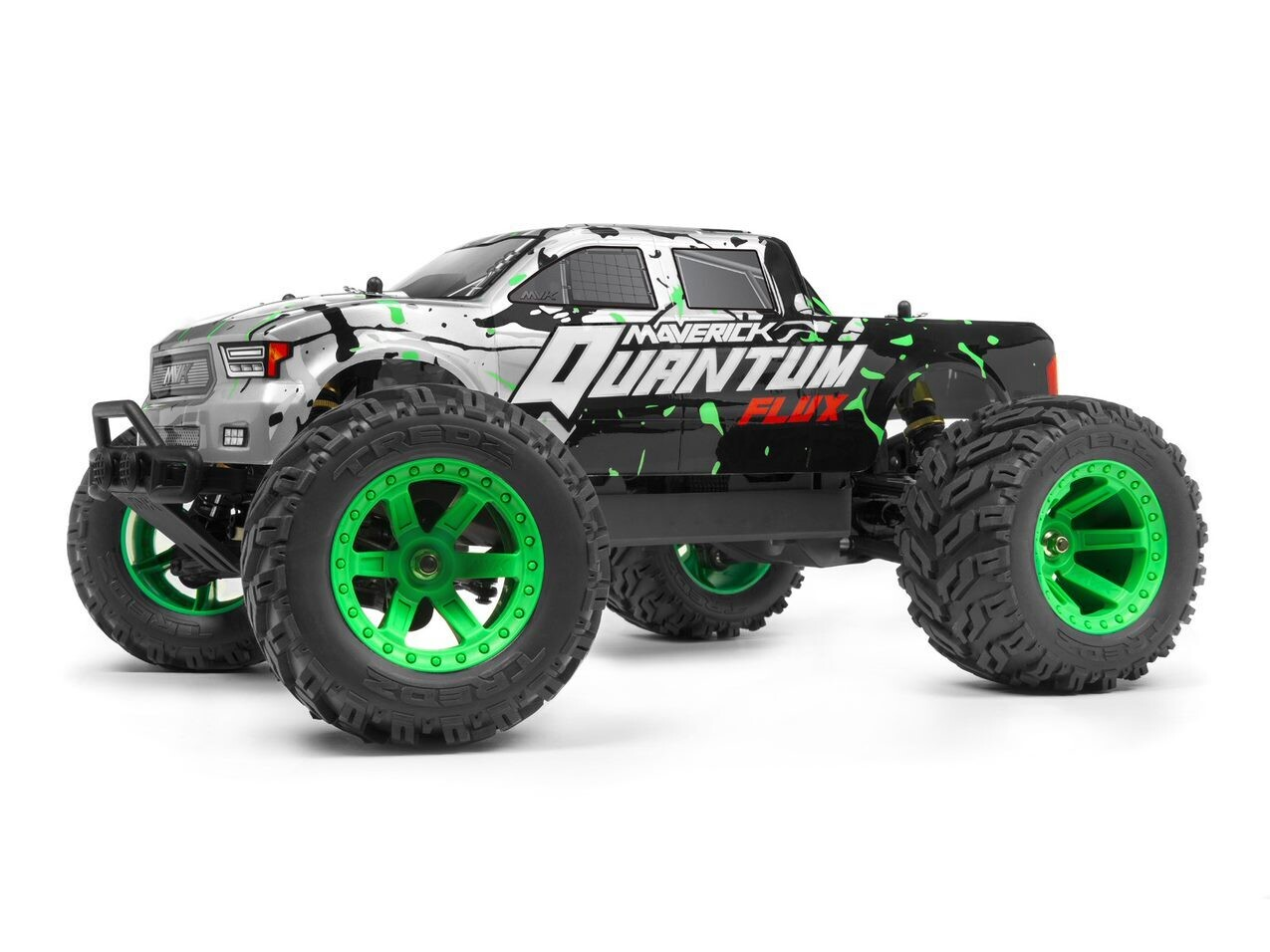 Maverick Quantum MT Flux 80A Brushless 1/10 4WD Monster Truck, Ready To Run - Silver MVK150203