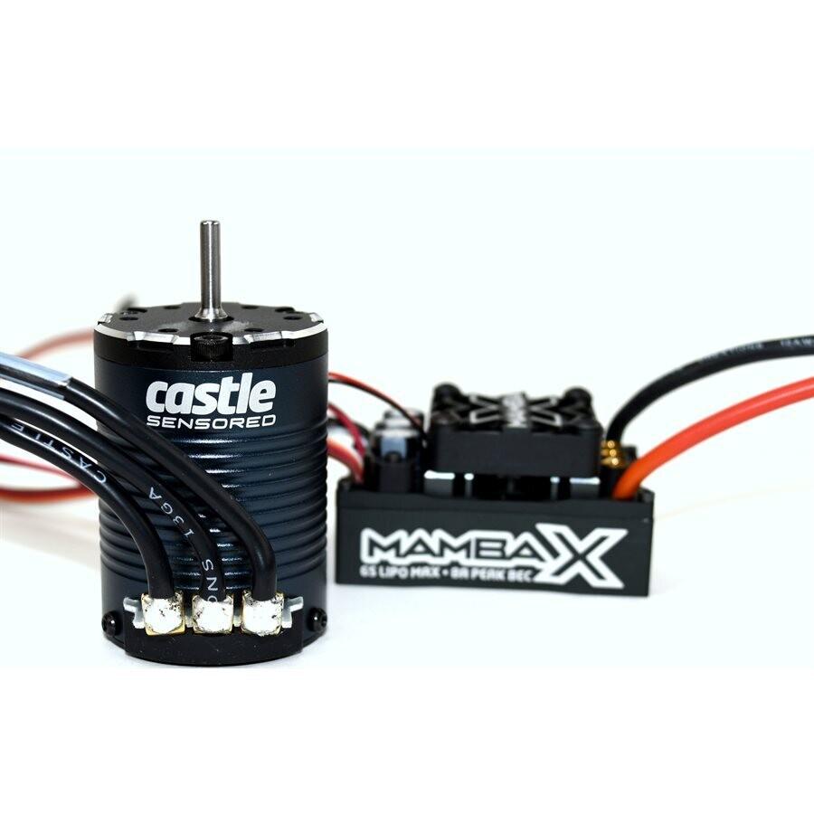 Castle Mamba X 25.2V Waterproof ESC and 1406-2850KV Sensored Motor Combo CSE010-0155-10