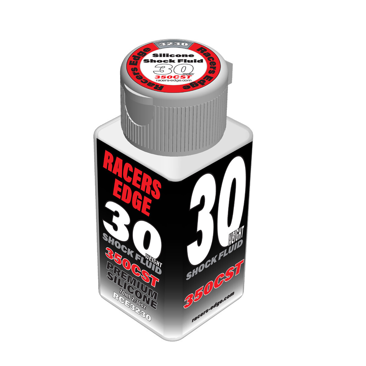 Racers Edge 30 Weight, 350cSt, 70ml 2.36oz Pure Silicone Shock Oil RCE3230