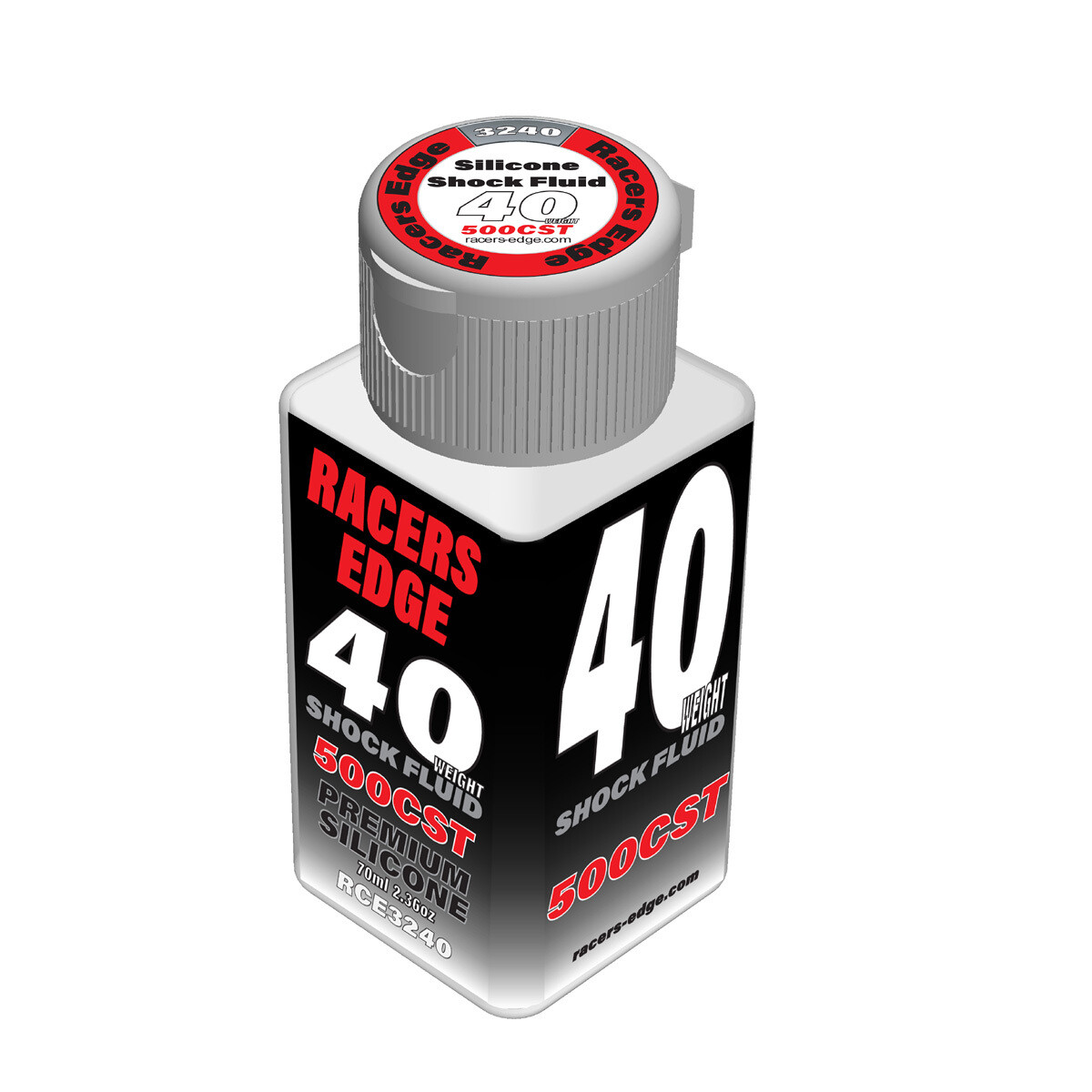 Racers Edge 40 Weight, 500cSt, 70ml 2.36oz Pure Silicone Shock Oil RCE3240