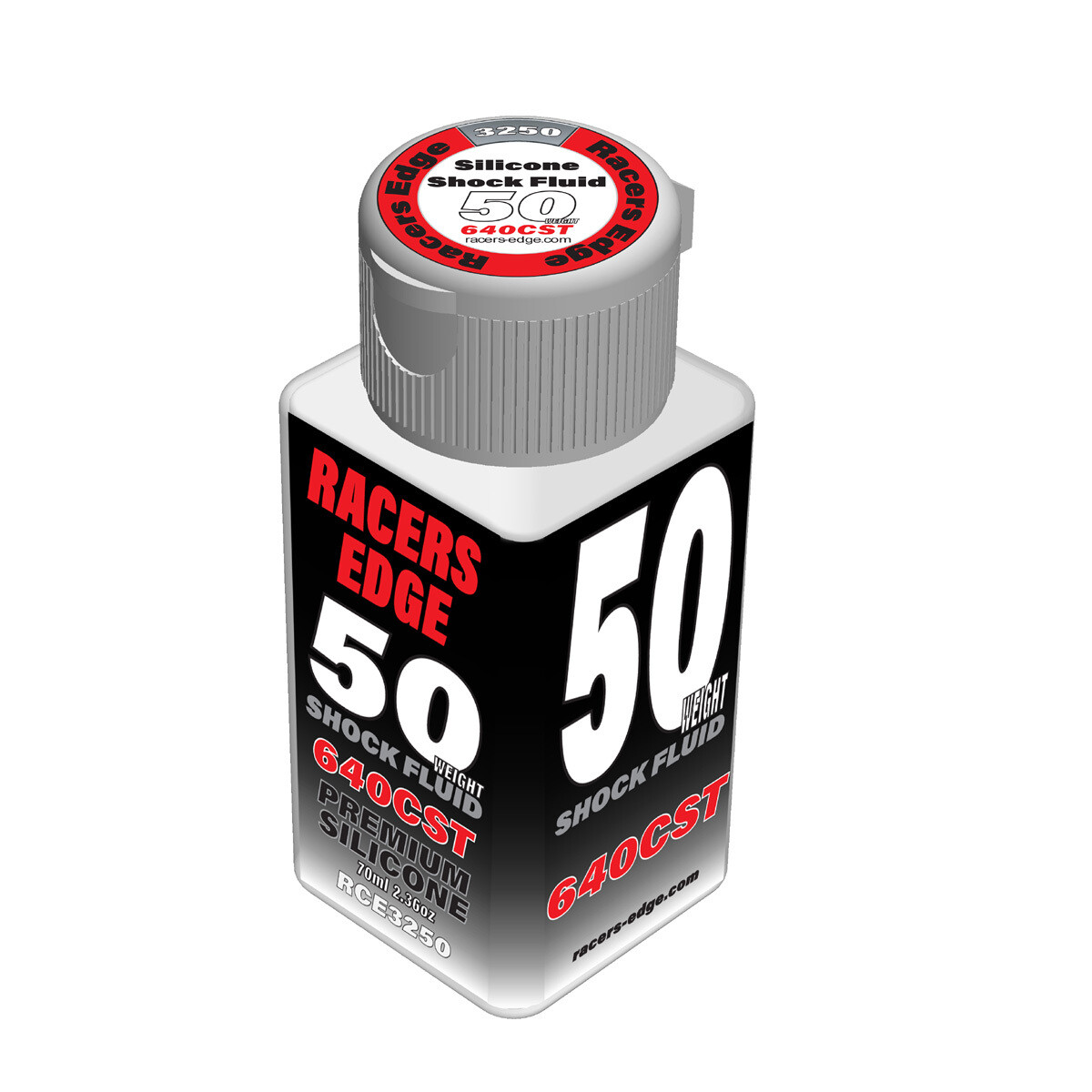 Racers Edge 50 Weight, 640cSt, 70ml 2.36oz Pure Silicone Shock Oil RCE3250
