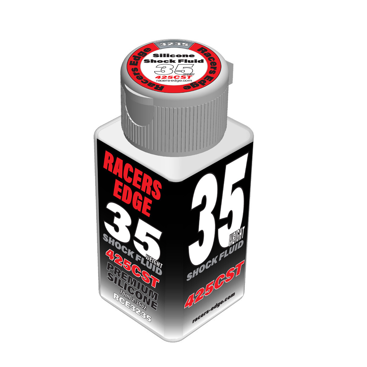 Racers Edge 35 Weight, 425cSt, 70ml 2.36oz Pure Silicone Shock Oil RCE3235