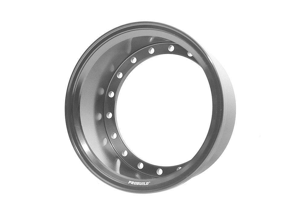 Boom Racing ProBuild™ Extra Wide Alum 19.5mm Wheel Barrel (1) Gun Metal BRPROB-02EWGM