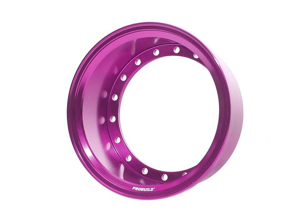 Boom Racing ProBuild™ Extra Wide Alum 19.5mm Wheel Barrel (1) Purple BRPROB-02EWP