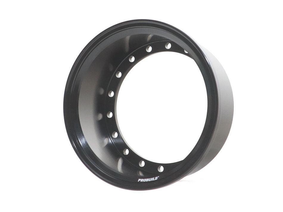 Boom Racing ProBuild™ Extra Wide Alum 19.5mm Wheel Barrel (1) Black BRPROB-02EWBK