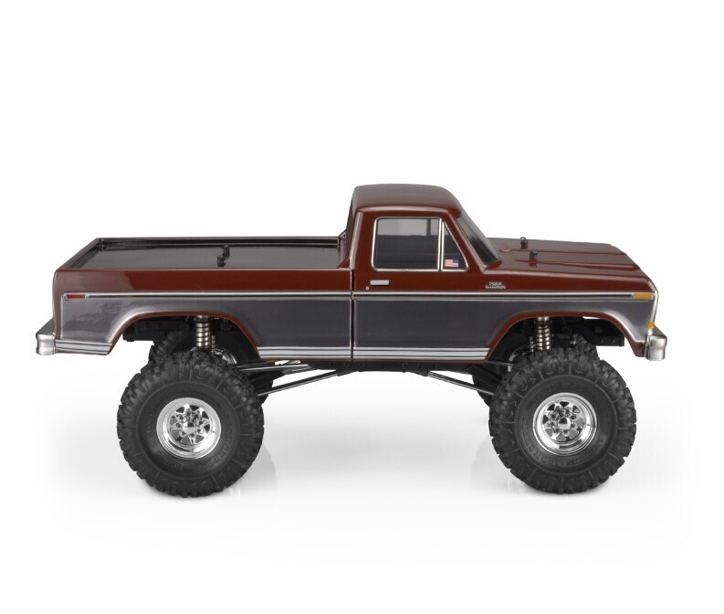 """Jconcepts 1979 Ford F-250 Clear Body for 12.3"""" Wheelbase Crawlers JCO0428"""