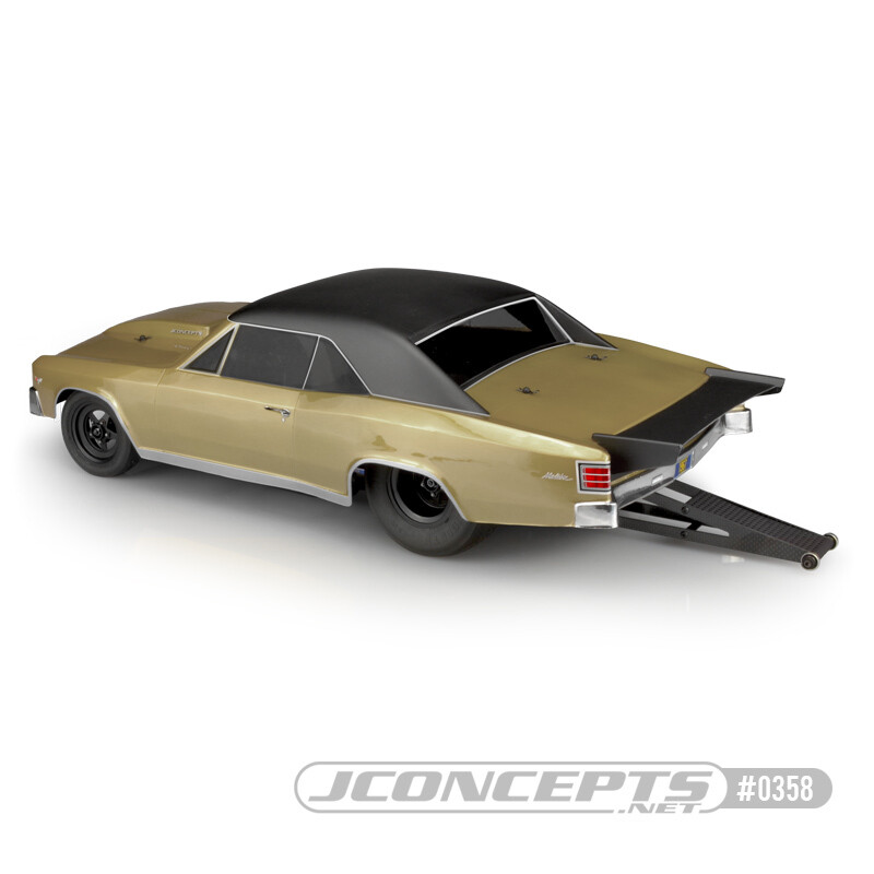 """JConcepts1967 Chevy Chevelle Clear Body for 10.75"""" Wide SCT JCO0358"""