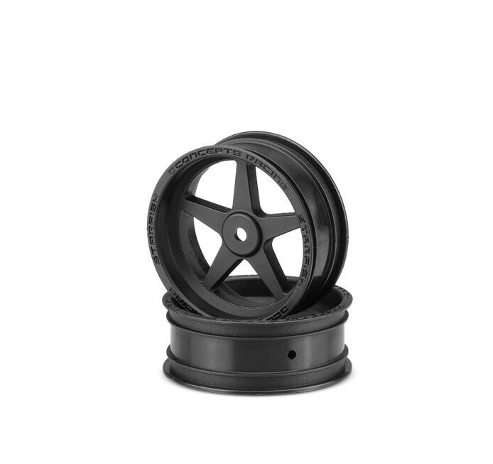 "JConcepts Starfish 2.2"" 12mm Hex Front Black Wheel, for Slash, Bandit, DR10 or Street Eliminator Cars JCO3406B"